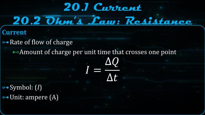 20 1 current 20 2 ohm s law resistance