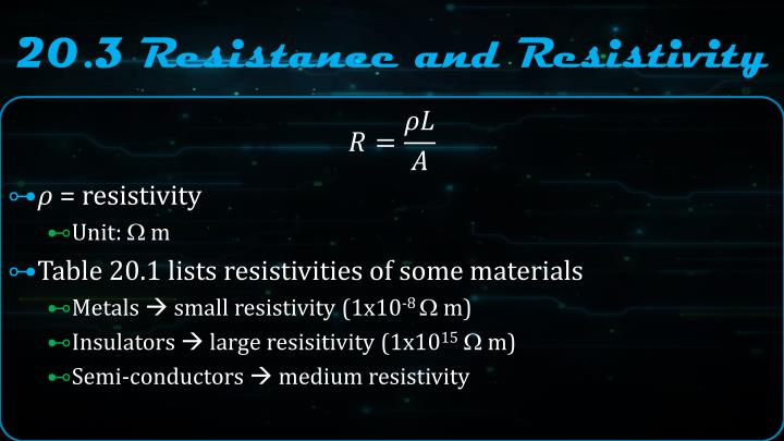20.3 Resistance and Resistivity