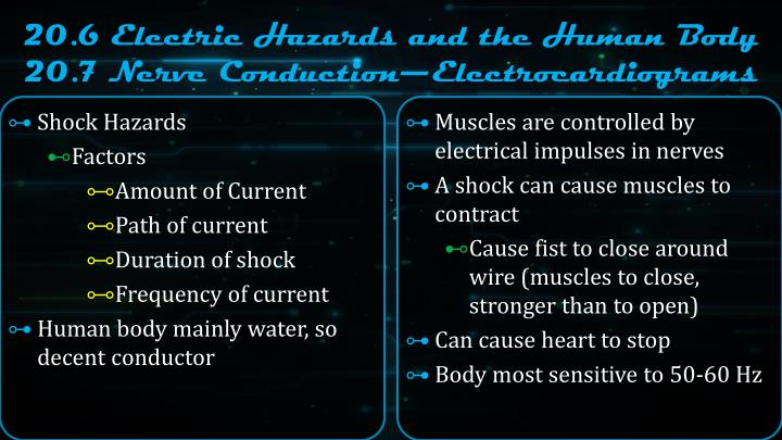 20.6 Electric Hazards and the Human Body