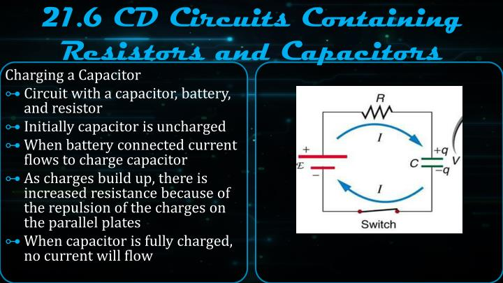 21.6 CD Circuits Containing Resistors and Capacitors