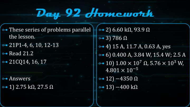 Day 92 Homework
