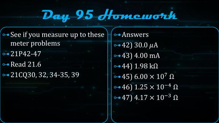 Day 95 Homework