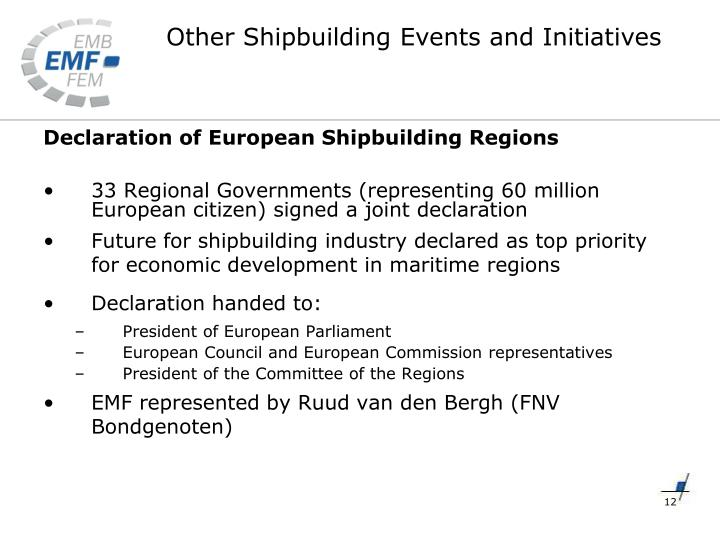 Declaration of European Shipbuilding Regions