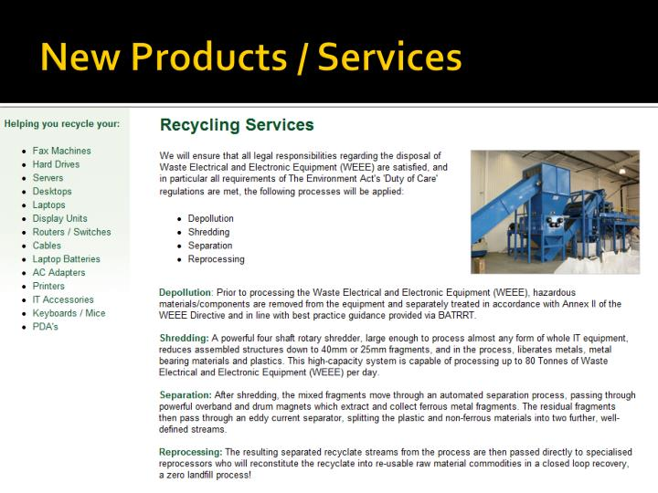 New Products / Services