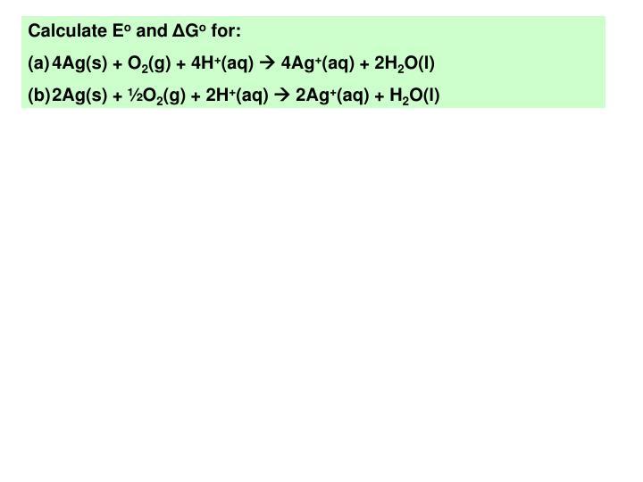 Calculate E