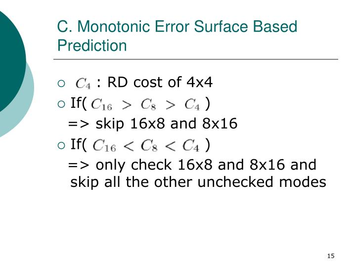C. Monotonic Error Surface Based Prediction