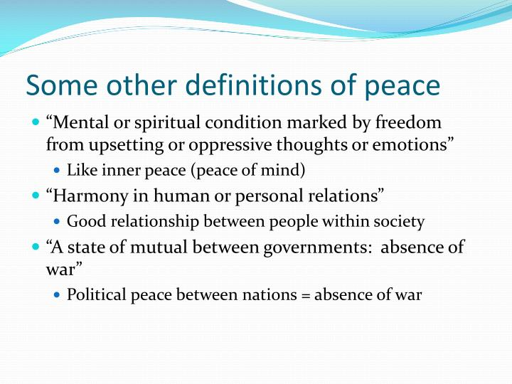 definition of peace