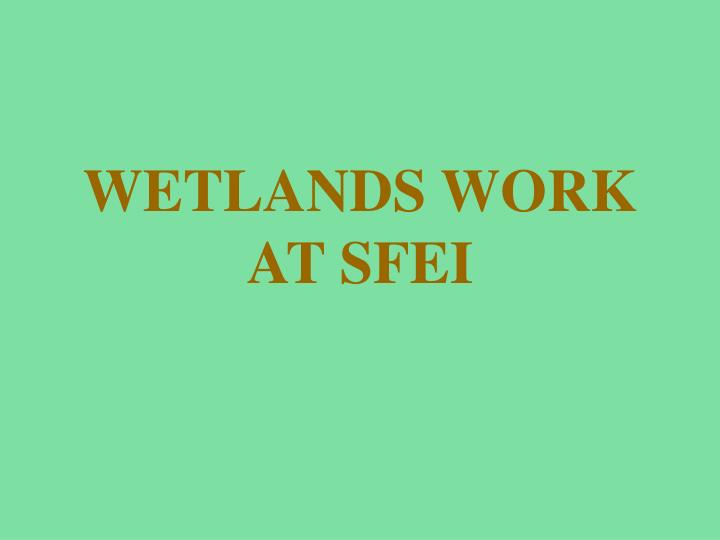 wetlands work at sfei n.