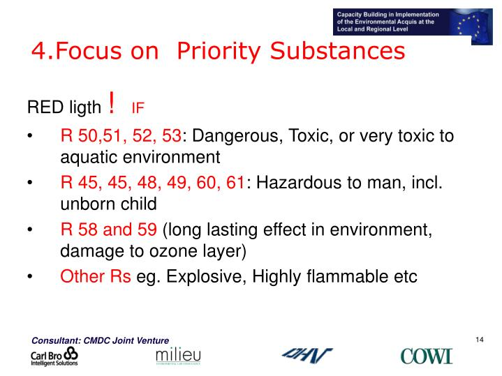 4.Focus on  Priority Substances