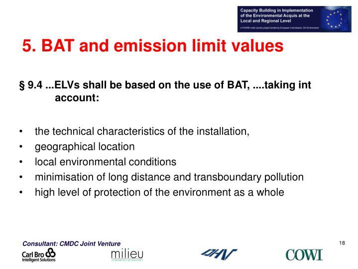 5. BAT and emission limit values
