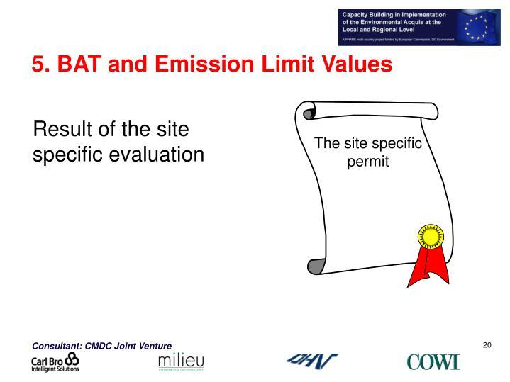 The site specific permit