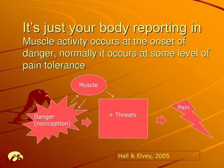 It's just your body reporting in