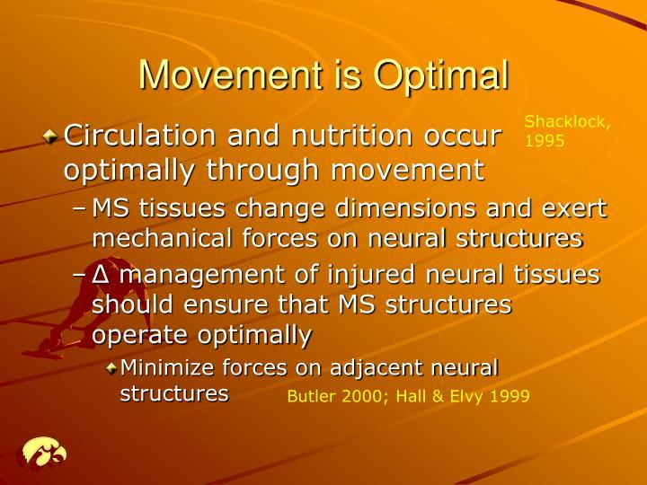 Movement is Optimal