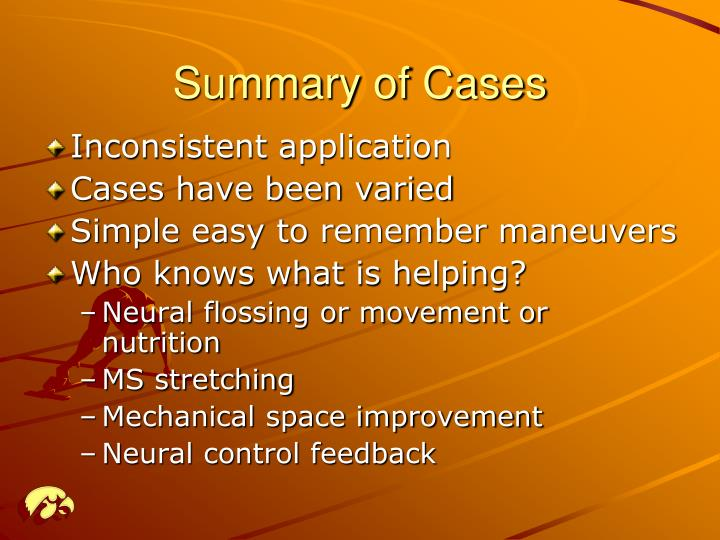 Summary of Cases