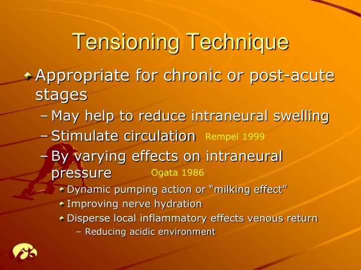 Tensioning Technique
