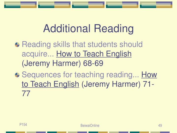 Additional Reading