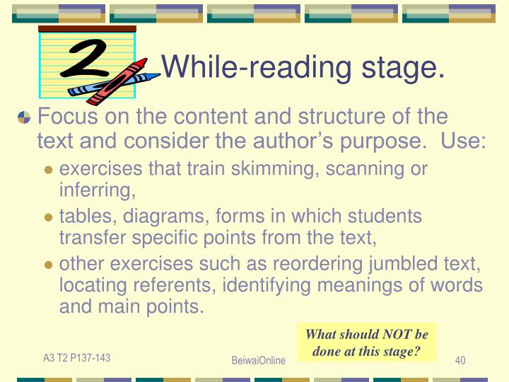 While-reading stage.