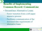 benefits of implementing common record commonline7
