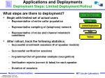 applications and deployments deployment steps limited deployment rollout