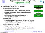 applications and deployments deployment tuning