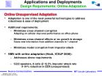 applications and deployments design requirements online adaptation
