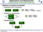 applications and deployments dialog design knowledge verification1