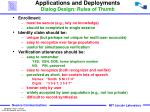 applications and deployments dialog design rules of thumb
