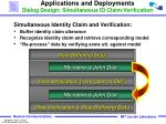 applications and deployments dialog design simultaneous id claim verification