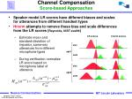 channel compensation score based approaches