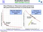 evaluation metrics roc and det curves