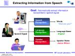 extracting information from speech
