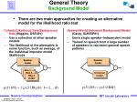 general theory background model