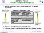 general theory features for speaker recognition