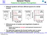 general theory features for speaker recognition2