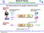 general theory phases of speaker verification system