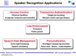 speaker recognition applications