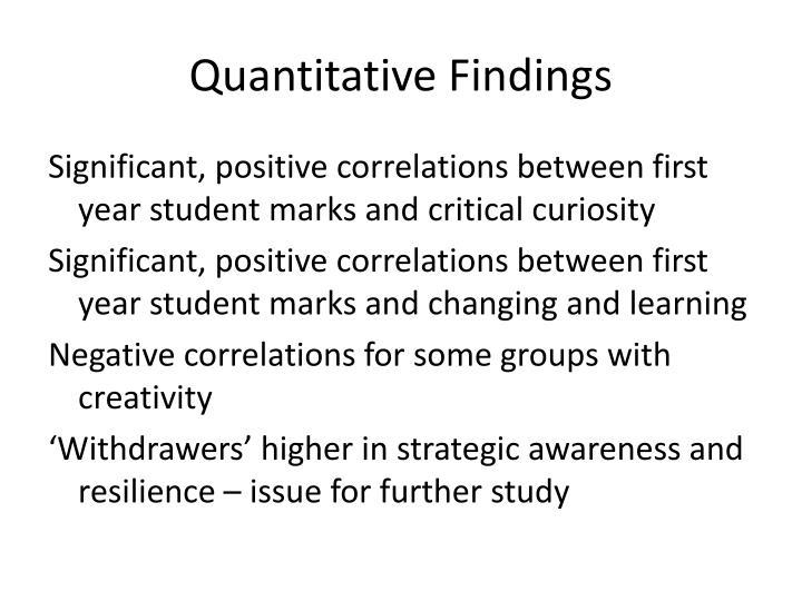 Quantitative Findings