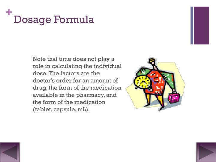 Dosage Formula