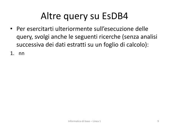 Altre query su EsDB4