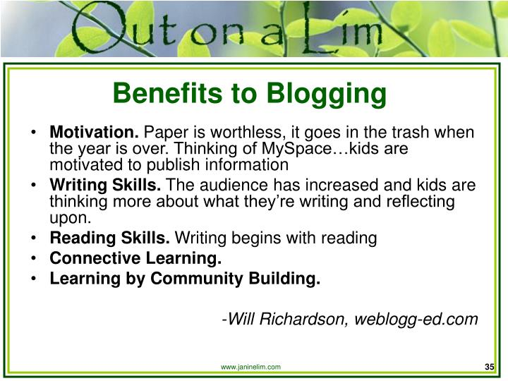 Benefits to Blogging