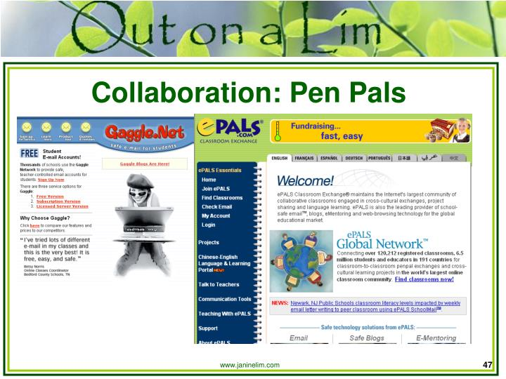 Collaboration: Pen Pals
