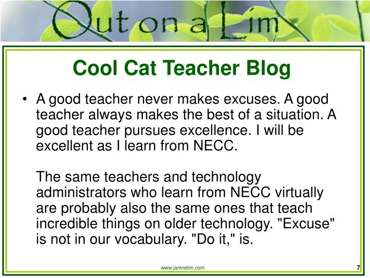 Cool Cat Teacher Blog