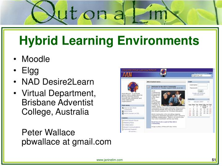 Hybrid Learning Environments