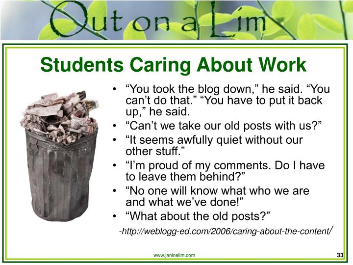 Students Caring About Work