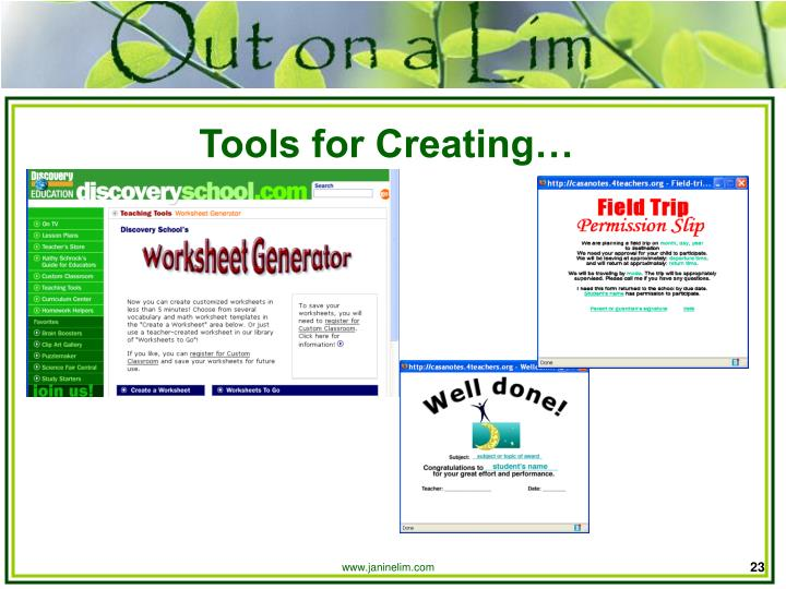 Tools for Creating…