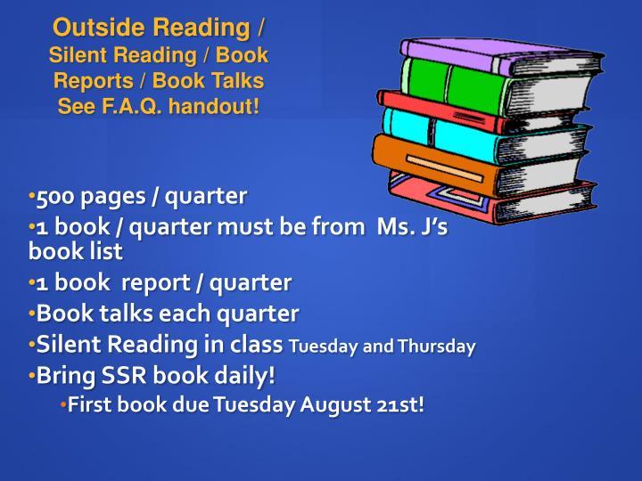 Outside Reading /