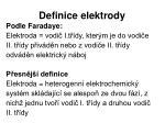 definice elektrody