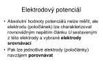 elektrodov potenci l