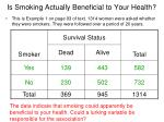is smoking actually beneficial to your health1
