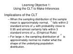 learning objective 1 using the clt to make inferences